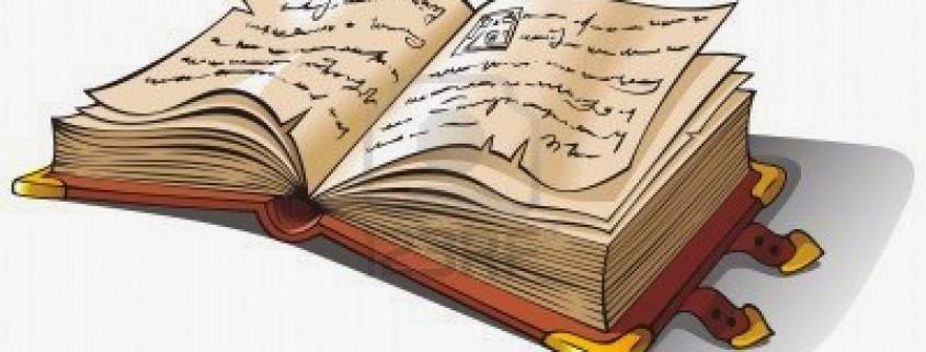 4524121-antiguo-libro-abierto-con-letra-cursiva-o-folio-manuscrito-antiguo-ilustracion-vectorial